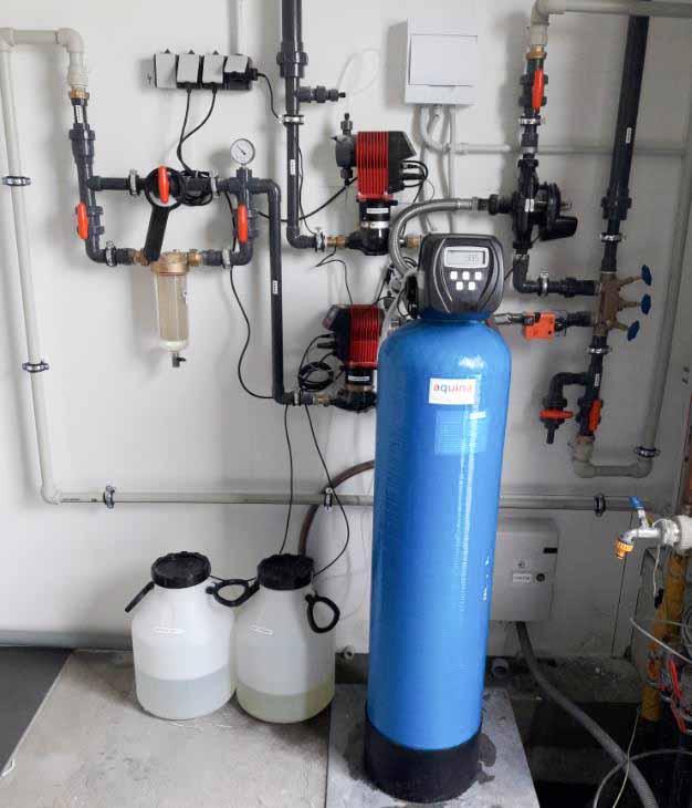 Odželeznění, odmanganování vody, písková filtrace, horkovodní úpravny vody horkovodní filtrace